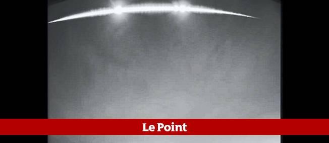 Un phénomène similaire a été observé dans le ciel breton au mois de juin. © Capture par Le Point.fr / Capture par Le Point.fr