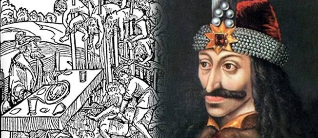 Vlad déjeunant devant des empalés / Portrait de Vlad.
