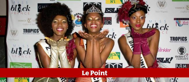 De gauche à droite : Romy Niaba dauphine, Mbathio Beye la gagnante et Aissata Soumah dauphine, lors de l'élection de Miss Black France 2012.