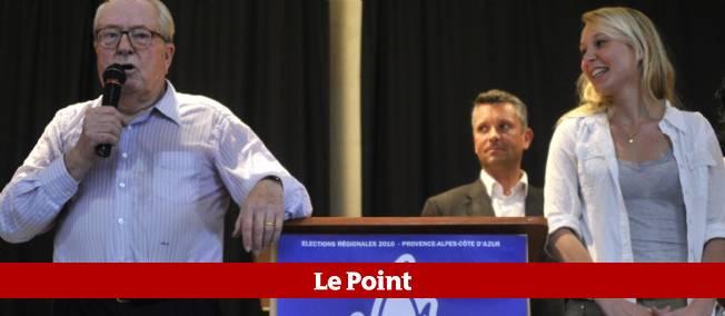 Jean-Marie Le Pen et sa petite-fille Marion Maréchal, dimanche dans le Vaucluse.