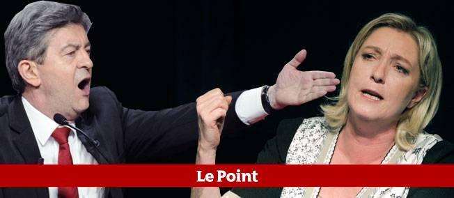 Jean-Luc Mélenchon et Marine Le Pen