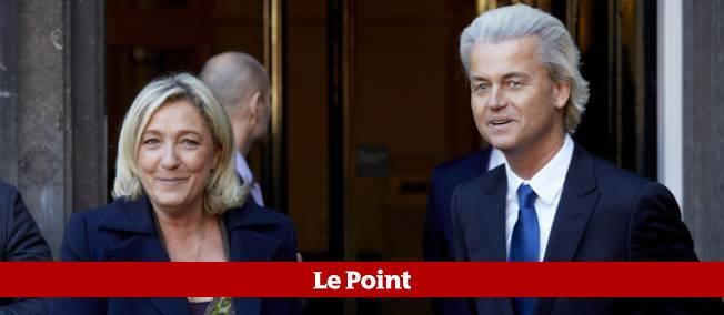Marine Le Pen et Geert Wilders, chef de file de l'extrême droite néerlandaise et du Parti de la liberté, le 13 novembre dernier à La Hague.