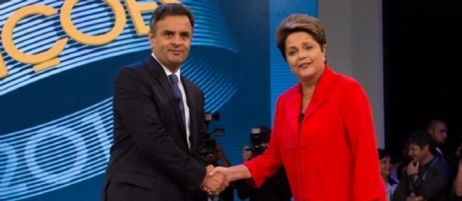Aécio Neves et Dilma Rousseff.