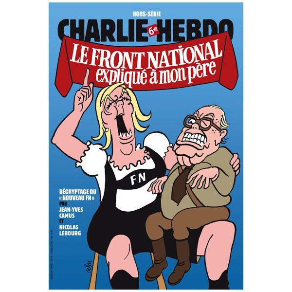 3048015 une charlie hebdo fn jpg 2657877 Jean Marie Le Pen : Moi, je suis désolé, je ne suis pas Charlie