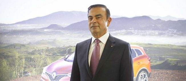 Carlos Ghosn, PDG de Renault, en février 2015.