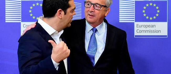 Alexis Tsipras et Jean-Claude Juncker à Bruxelles le 22 juin 2015.