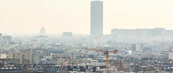 Paris polluée, en avril 2015.