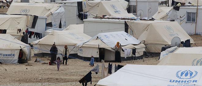 Le camp de réfugiés de Zaatari en Jordanie. Environ 600 000 Syriens ont fui leur pays en direction de la Jordanie, selon le Haut-Commissariat pour les réfugiés des Nations unies.