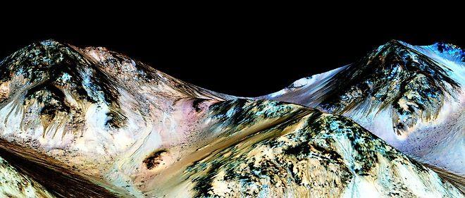 La Nasa ignore encore d'où vient cette  eau responsable de ces traînées qui apparaissent sur des pentes abruptes  à certains endroits de la Planète rouge.