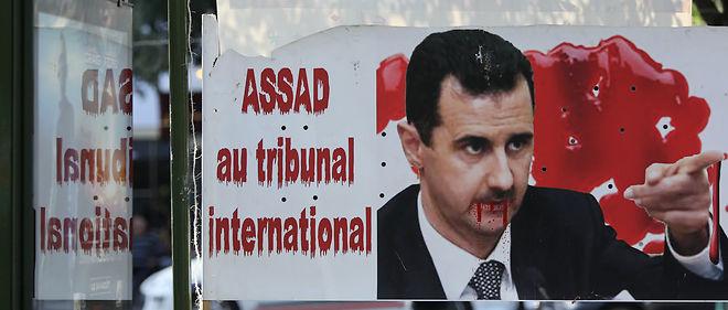 Le 20 août 2011, des membres de la communauté syrienne de France ont manifesté contre le régime Assad.