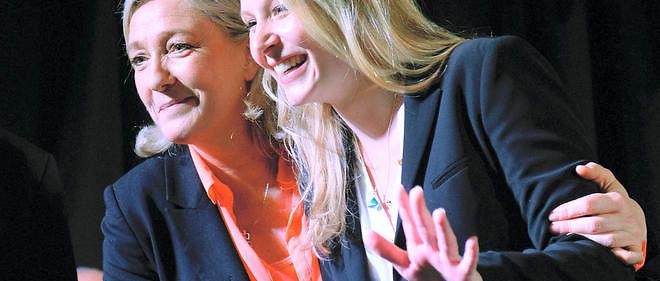 Marion Maréchal-Le Pen et sa tante sont toutes deux arrivées en tête en PACA et en Nord-Pas-de-Calais-Picardie au 1er tour des régionales.
