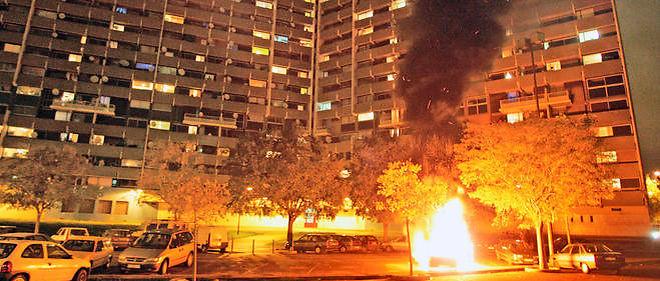 Le 9 novembre 2005, au quartier de La Reynerie, à Toulouse.