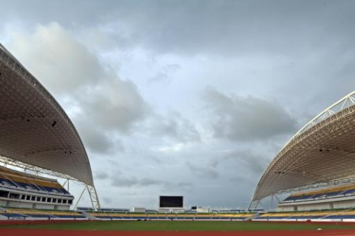 Le stade de l'Amitié à Libreville, le 31 octobre 2011, à quelques jours de son inauguration avec un match Gabon-Brésil © VOISHMEL AFP/Archives