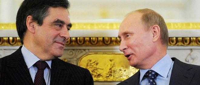Si François Fillon entre à l'Élysée, Vladimir Poutine comptera un nouvel ami dans le cercle des dirigeants occidentaux. Photo prise à Moscou en novembre 2011, quand les deux hommes étaient tous deux Premiers ministres.
