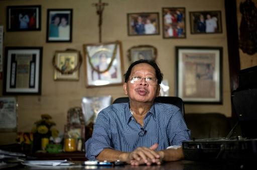 Frank Malabed, qui a embaumé le corps de l'ancien dictateur philippin Ferdinand Marcos, à Manille le 22 novembre 2016 © NOEL  CELIS AFP
