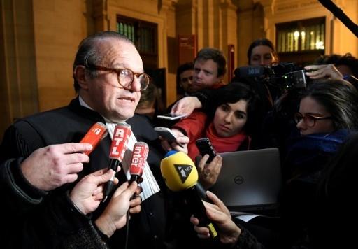 Hervé Temime, avocat de Guy Wildenstein, parle aux journalistes au Palais de Justice de Paris le 12 janvier 2017