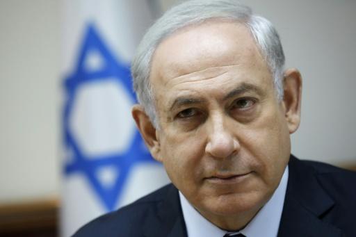 Le Premier ministre israélien Benjamin Netanyahu à Jérusalem, le 30 juillet 2017 © AMIR COHEN AFP/Archives