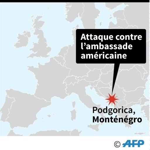 Monténégro: attaque contre l'ambassade américaine © John SAEKI AFP