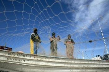 Des pêcheurs installent leurs filets dans le Golfe de Californie près de Puertecitos, le 9 mars 2018 © GUILLERMO ARIAS AFP