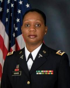 Le lieutenant-colonel Kouassi Veronica (Ph: Dr)