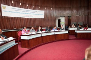 La Représentante spéciale du Secrétaire général des Nations Unies pour la Côte d'Ivoire et Chef de l'Opération des Nations Unies en Côte d'Ivoire (ONUCI), Mme Aïchatou Mindaoudou, a pris part, le vendredi 31 janvier 2014, à un atelier de L'Action mondiale des parlementaires (PGA) pour l'universalité et l'efficacité du système de la Cour pénale internationale (CPI), à l'Assemblée nationale de la Côte d'Ivoire (Ph: Dr)