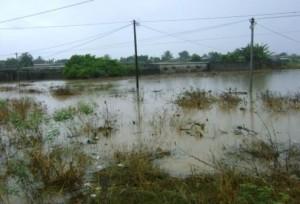 Une vue du quartier en cas de pluie (Ph d'archives)