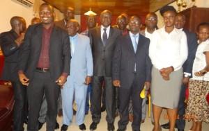 La délégation du FORDP-CI en compagnie du maire Gilbert Kafana (Ph: Dr)