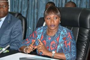 Raymonde Goudou Coffie, ministre de la Santé et de la Lutte contre le Sida (Ph: Dr)