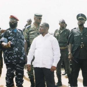 Guillaume Soro et certains chefs de guerre en septembre 2002 (Ph: Dr)