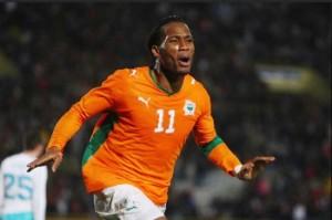 Malgré la rage de vaincre de Didier Drogba, capitaine des Elephants de Côte d`Ivoire, lui et ses coéquipiers n'ont remporter de CAN (Ph : Dr)