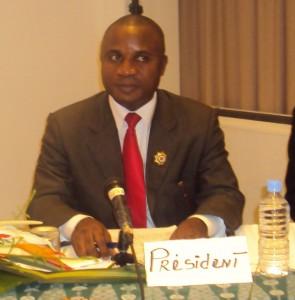 """Le président de """"Just-Ado"""", Daniel Doméné Zady député élu de Fresco (Sud-Ouest) de la Côte d'Ivoire"""