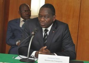 Le ministre des Transports ivoirien, Gaoussou Touré (Ph:Dr)