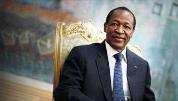 Blaise Compaoré à Ouagadougou, le 23 janvier 2013. © AFP