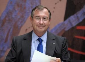 Martin Bouygues entendu par la Commission des affaires économiques de l'Assemblée nationale, à Paris le 1er juillet 2014 (Photo Eric Piermont. AFP