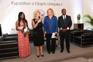 Mme Dominique Ouattara, a dit sa joie pour le succès du vernissage