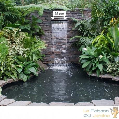 cascade lame d eau 45 cm inox pour bassin de jardin ou piscine