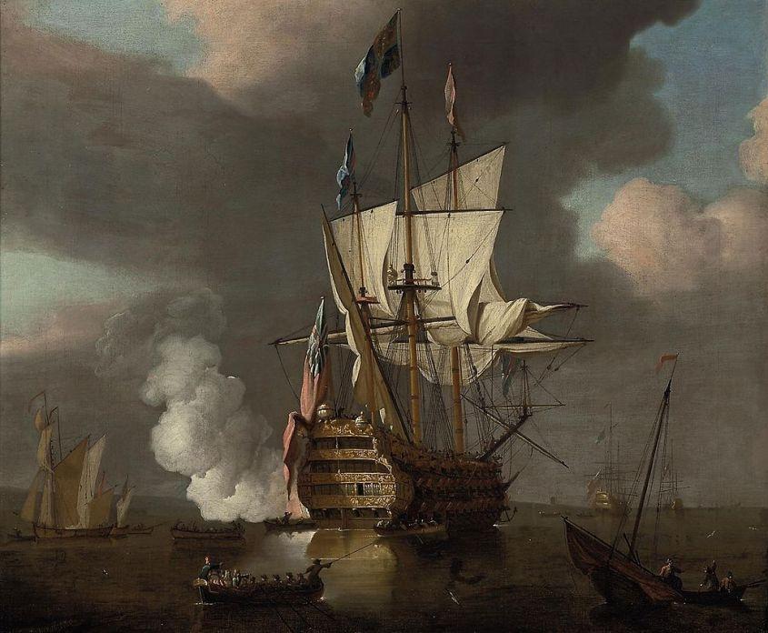 Один із кращих британських військових кораблів початку XVIII століття - HMS Royal Sovereign (1701)
