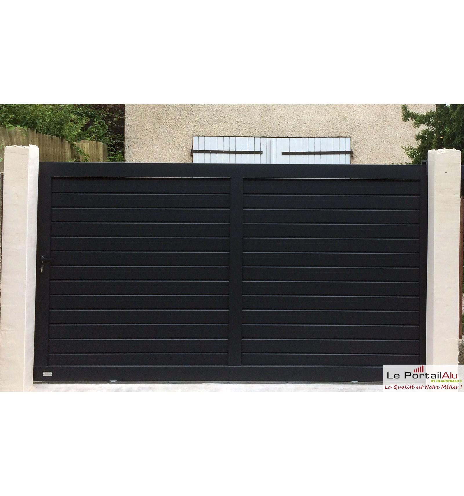 portail brise vue aluminium ouverture