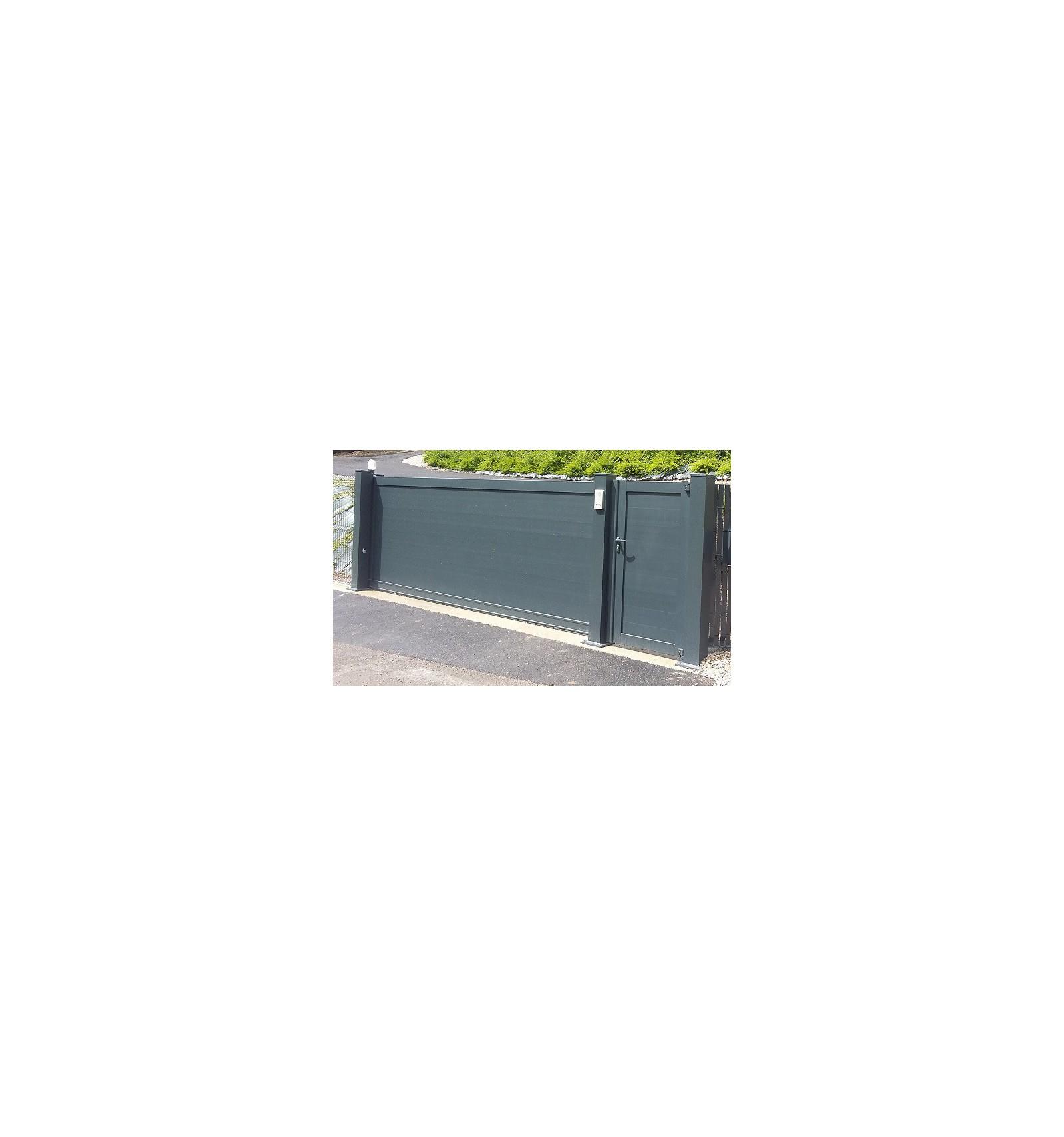 poteau aluminium pour portail coulissant alu ou portail battant alu