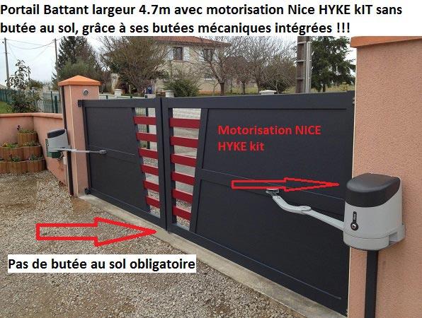details portail 2 vantaux motorise