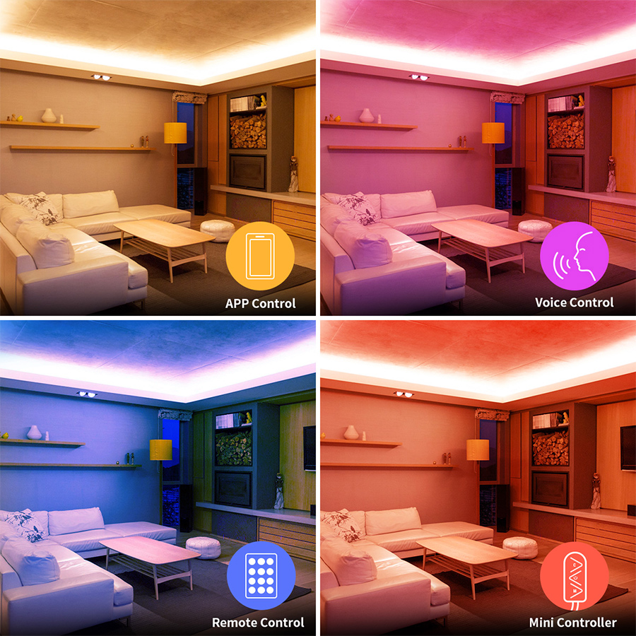 led strip lights that sync with music