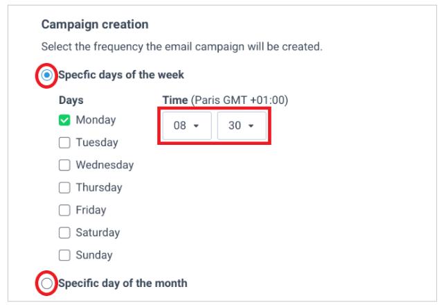 planificar campaña de newsletter sendinblue rss