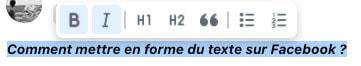 format facebook text