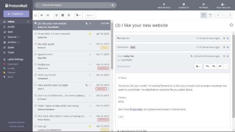 gmail alternativo de protonmail