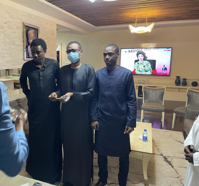 Youssou Ndour et Birane Ndour chez Waly Seck
