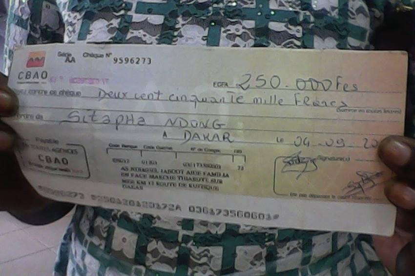 Appel au don de l'Association Ndimbël Jaboot sur leral : Dinesh Gorasia, de Senegindia Sarl, a pris en charge l'opération d'Ibrahima Ndong