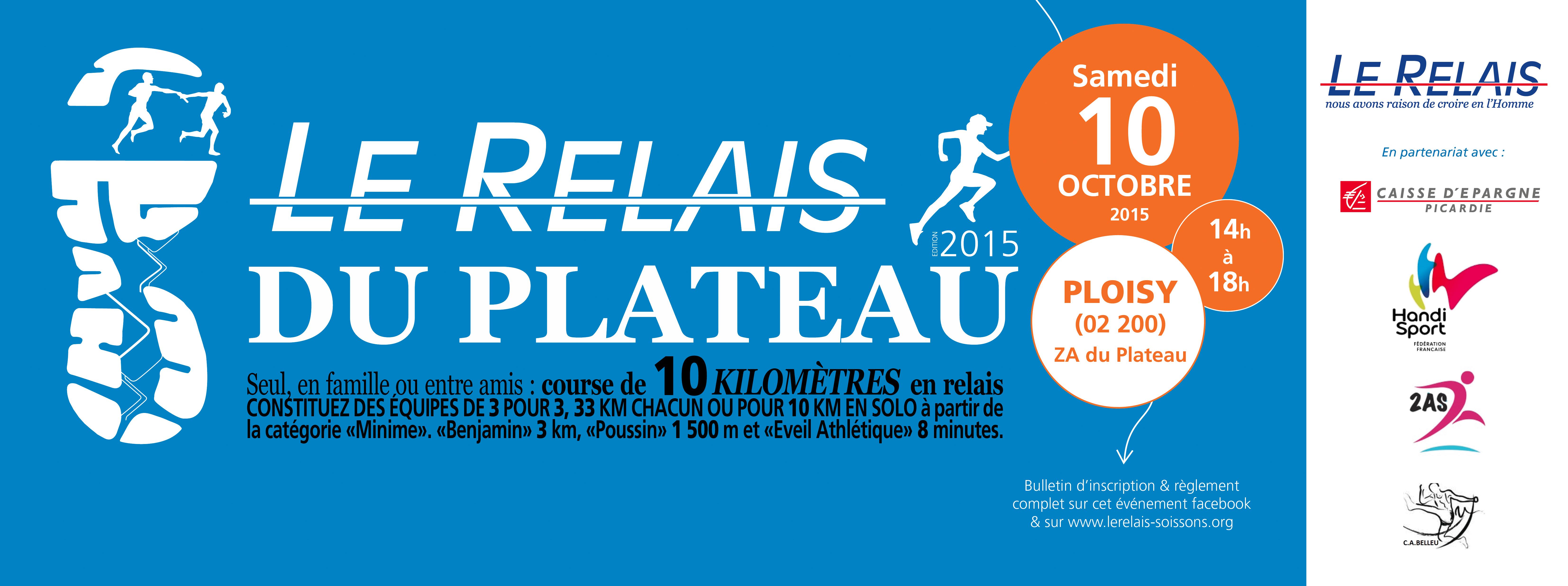 Course 10 Kms : Le Relais du Plateau 2015