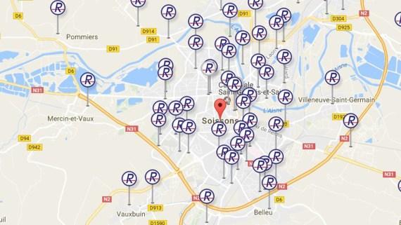 Carte France Conteneurs Relais