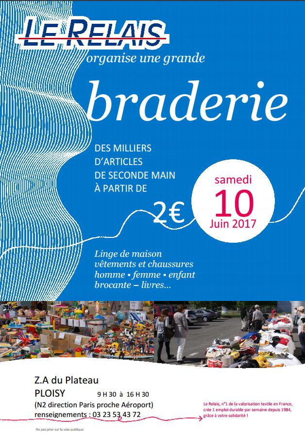 Braderie Le Relais Soissons 10 juin 2017