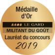 Médaille d'or Militant du Goût du Gard 2019